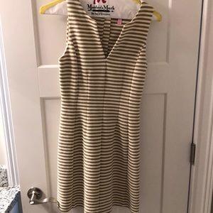 Lily Pulitzer Gold & White Striped Dress